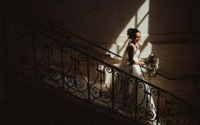 bride in editorial light south of france